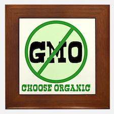 Say No to GMO Framed Tile