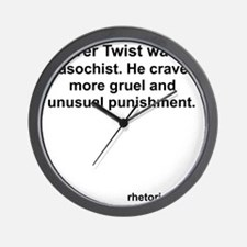 What Oliver Twist Wanted Wall Clock
