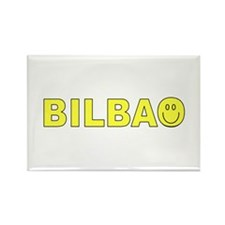 Bilbao, Spain Smiley Face Rectangle Magnet