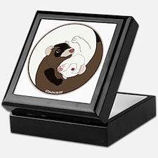 Yen-Yang Ferrets Keepsake Box