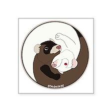 "Yen-Yang Ferrets Square Sticker 3"" x 3"""