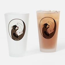 Yen-Yang Ferrets Drinking Glass