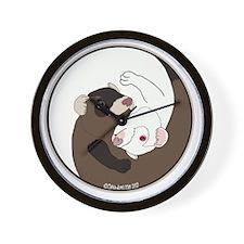 Yen-Yang Ferrets Wall Clock
