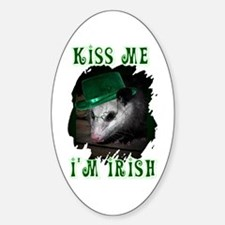 Kiss Me Possum Oval Decal