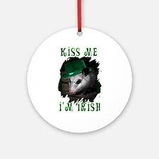 Kiss Me Possum Ornament (Round)