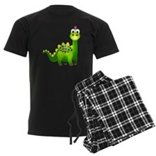 Green Punk Dinosaur Pajamas