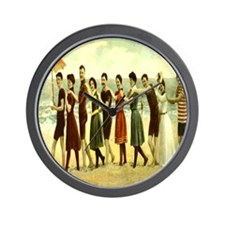 Vintage Beach LIne Dance Wall Clock