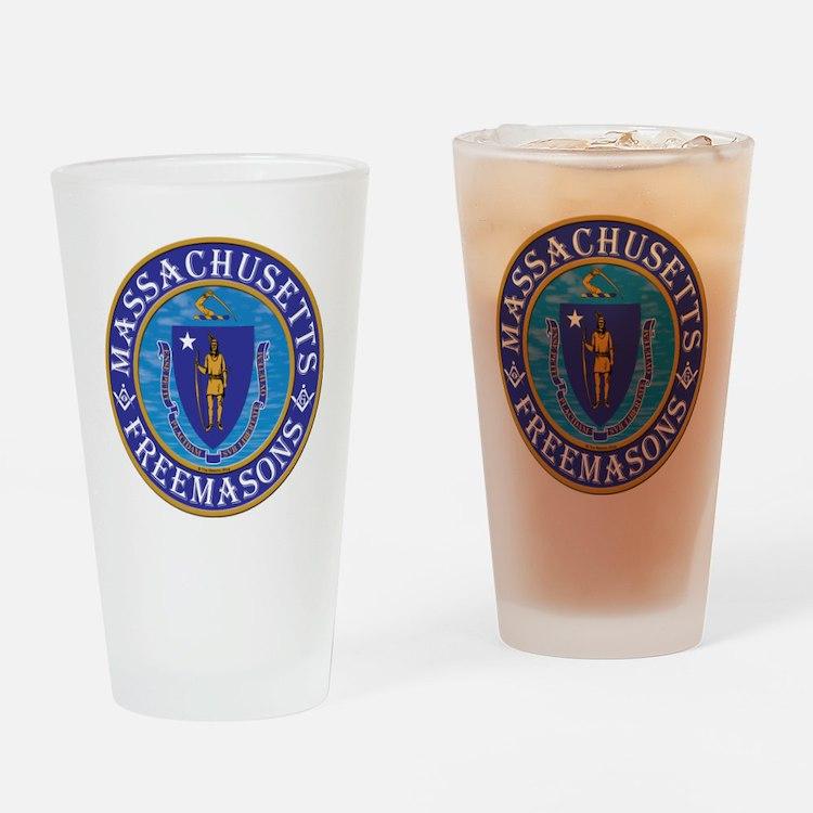 Massachusetts Masons Drinking Glass