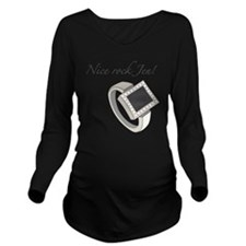 Nice Rock Jen! Long Sleeve Maternity T-Shirt