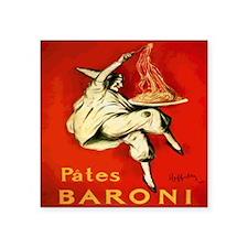"""Italian Liquor Pates Baroni Square Sticker 3"""" x 3"""""""