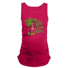 Its Wine OClock Somewhere Maternity Tank Top