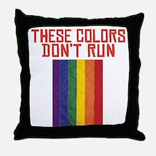CRAZYFISH - dont run Throw Pillow