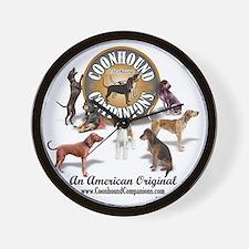 Logo + hounds Wall Clock