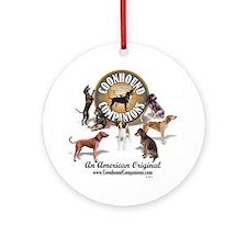 Logo + hounds Round Ornament