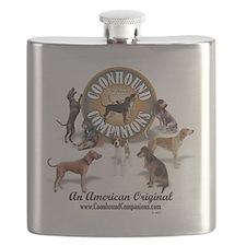 Logo + hounds Flask