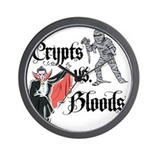 Crypts Vs. Bloods Wall Clock