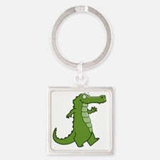 Later Gator Square Keychain