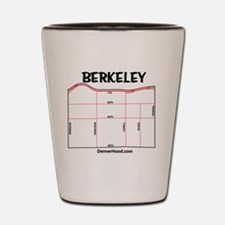 Berkeley Neighborhood Map Shot Glass