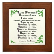 Saint Patrick's Breastplate Framed Tile