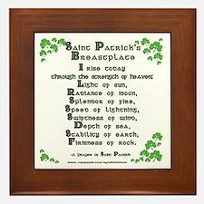 Saint Patrick's Breastplate Framed Tile