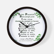 Saint Patrick's Breastplate Wall Clock