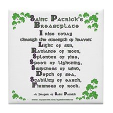 Saint Patrick's Breastplate Tile Coaster