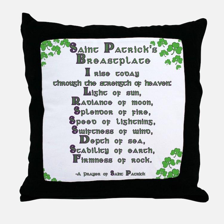 Saint Patrick's Breastplate Throw Pillow