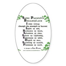 Saint Patrick's Breastplate Oval Decal