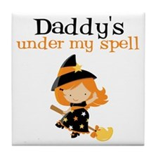 Daddys Under My Spell Tile Coaster
