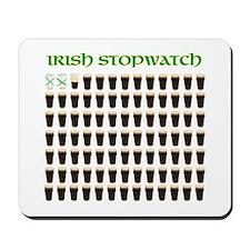 Irish Stopwatch Mousepad