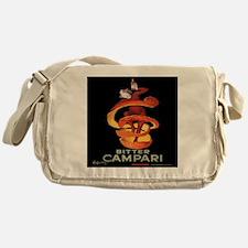 Vintage Italian Cappiello Campari Po Messenger Bag