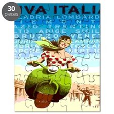 Vintage Viva Italy Travel Poster Puzzle