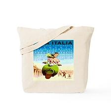Vintage Viva Italy Travel Poster Tote Bag