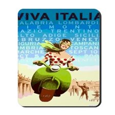 Vintage Viva Italy Travel Poster Mousepad