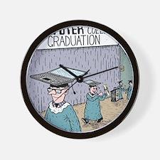 Computer College Graduation Wall Clock