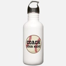 Personalized Baseball Coach Water Bottle