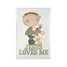 Jesus Loves Me (Boy) Rectangle Magnet