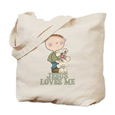 Jesus Loves Me (Boy) Tote Bag