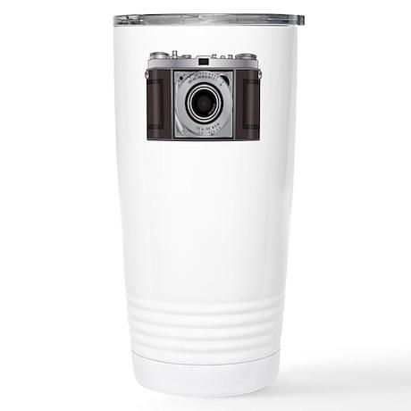 Retro Camera Stainless Steel Travel Mug