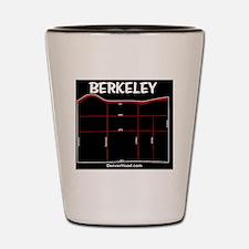 Berkeley Neighborhood Map on Black Shot Glass