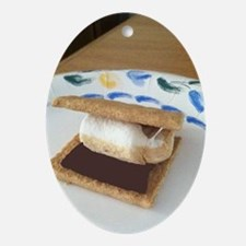 mmm smores... Oval Ornament