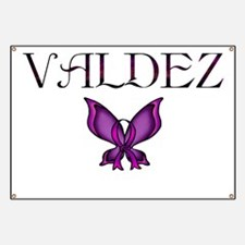 Valdez Domestic Violence Awareness Butterfl Banner