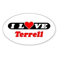 I Love Terrell Oval Decal