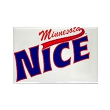 Minnesota Nice Baseball Rectangle Magnet