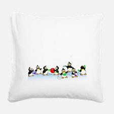 Penguin Band Square Canvas Pillow