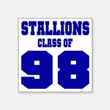 """NMHS Class Of 1998 Square Sticker 3"""" x 3"""""""