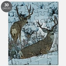 bucks in snow 3 Puzzle