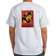 Obey the Malamute! Ash Grey T-Shirt