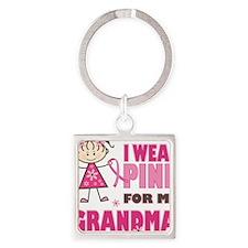 Wear Pink 4 Grandma Square Keychain