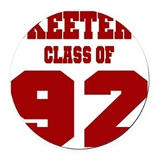 MHS Class Of 1992 Round Car Magnet